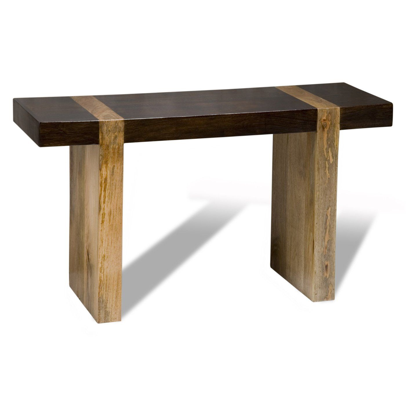 Interlude home 134400 taos console entry table home decor there is elegance in brevity as this spare zen minimalist console table proves crafted from contrasting tropical woods and hewn into a contemporary geotapseo Image collections