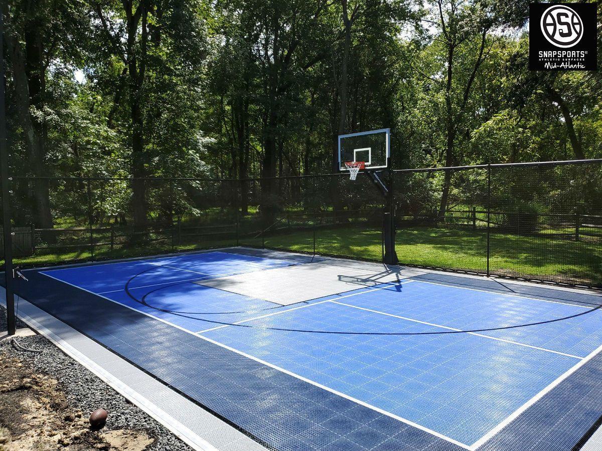 Pin By Anne H On Multi Sport Court Backyard Court Basketball Goals Sport Court
