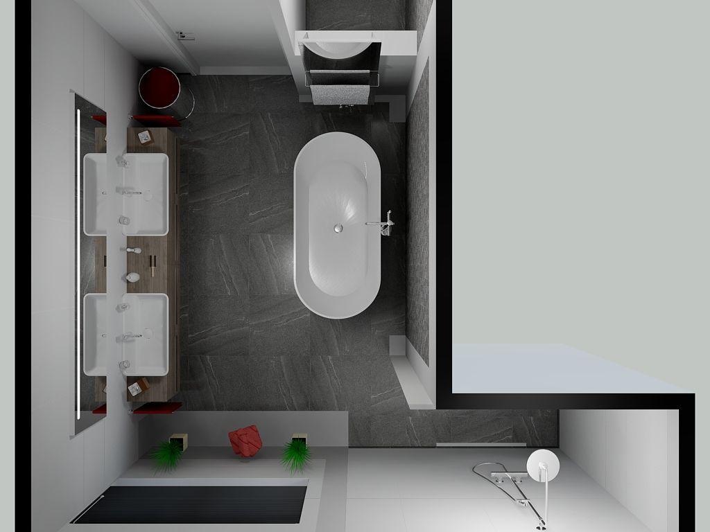 Met een vrijstaand bad creëer je ook iets in de badkamer. Mooi ...