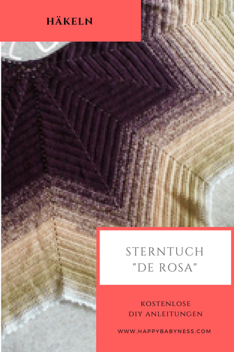 Halbrund Tuch De Rosa In Stern Optik Kostenlose Diy