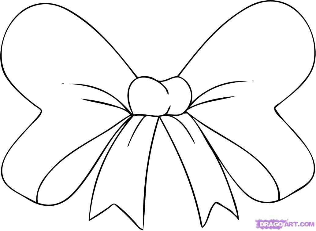 Hair Bow How To Draw A Hair Bow Step By Step Stuff Pop Culture Free Online Bow Drawing Drawings Coloring Pages