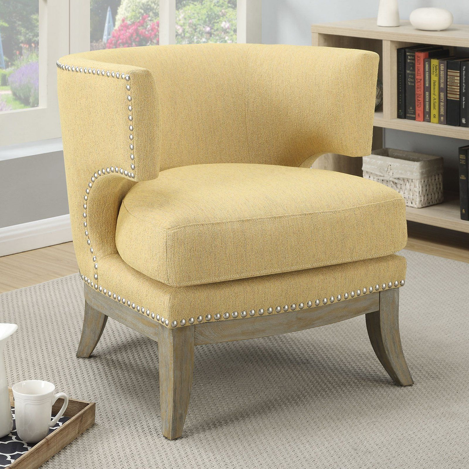Terrific Coaster Furniture Fremont Accent Chair Grey Dh Coaster Machost Co Dining Chair Design Ideas Machostcouk