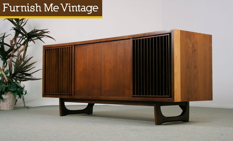 Refinished Working Retro RCA Victor New Vista Console Stereo Love This!