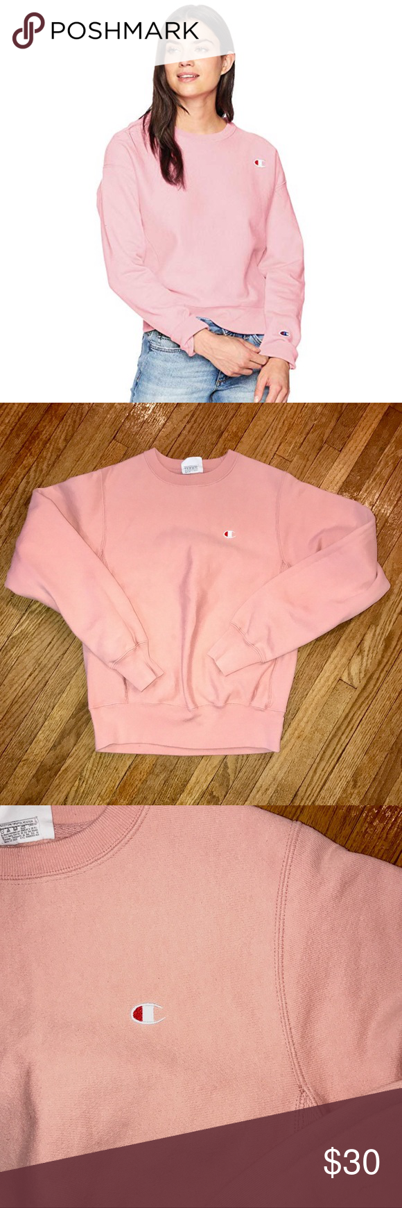 Champion Women S Crew Neck Champions Women S Crew Neck In Pink Candy Great Condition Champion Tops Sweatshirts Hoodies Champion Tops Women Clothes Design [ 1740 x 580 Pixel ]