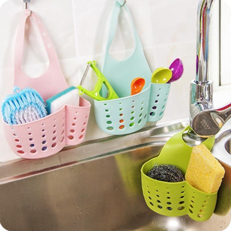 Kitchen Storage Holder Sink Caddy Storage Hanging Basket Sponge Drain Rack