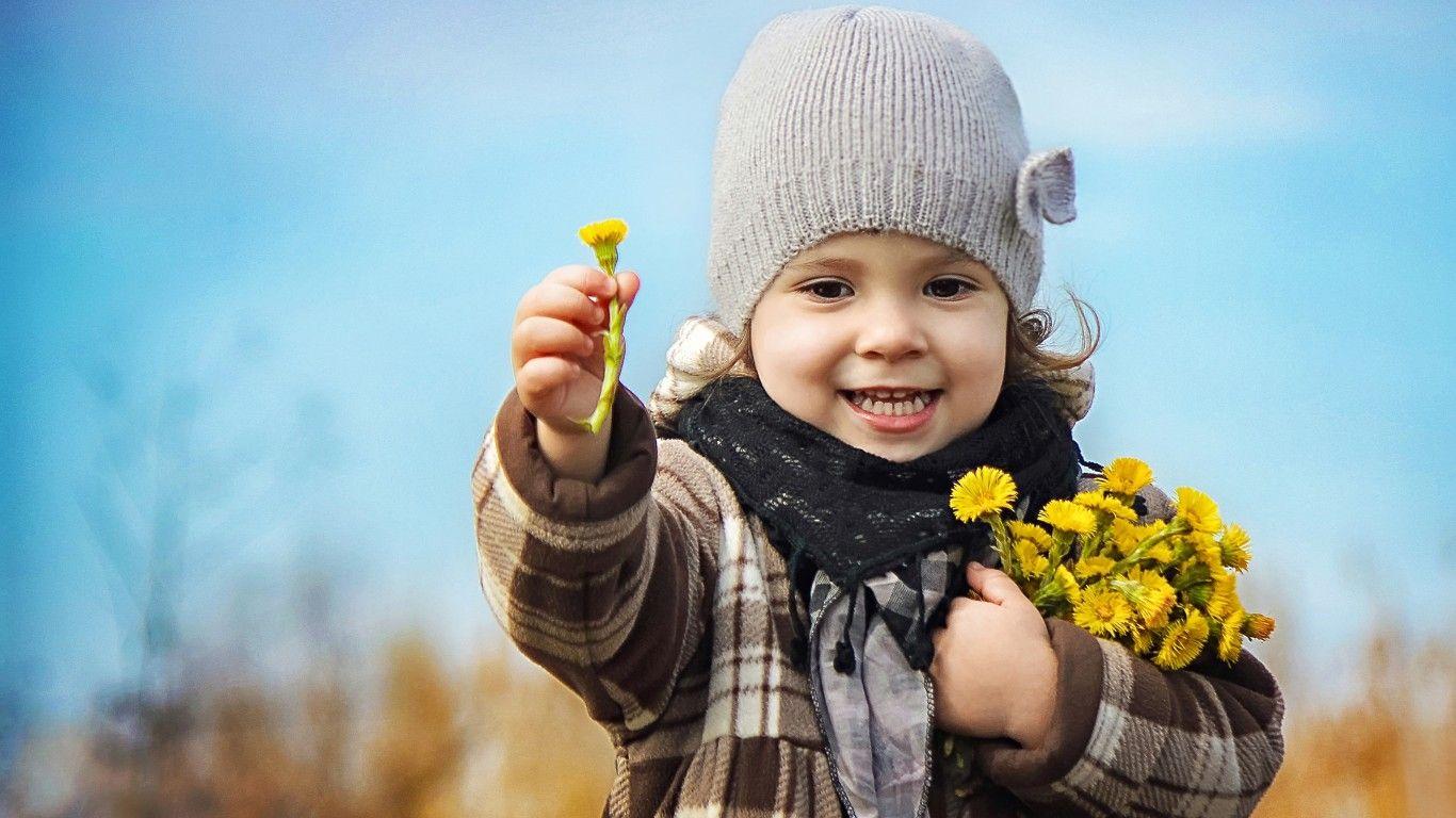 Скачать обои ребёнок, девочка, дети, природа, весна ...