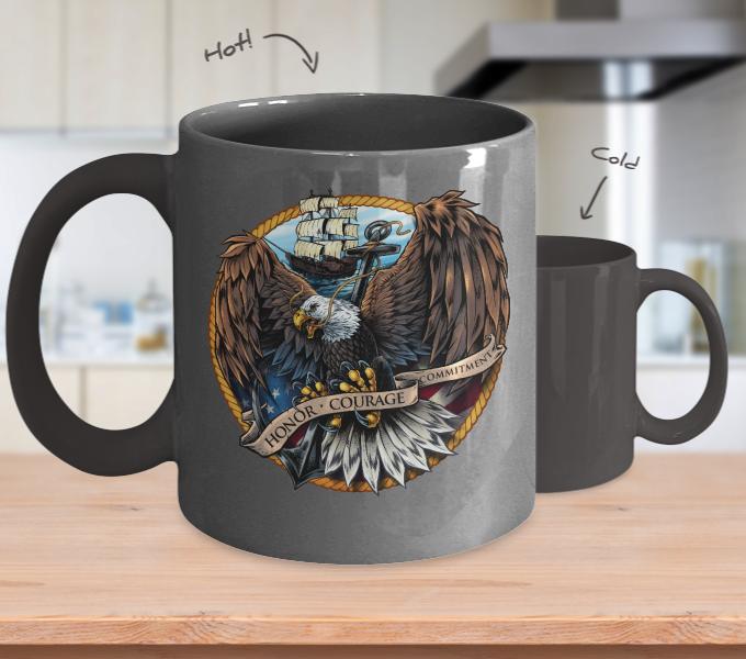 Navy Eagle Color Changing Mug