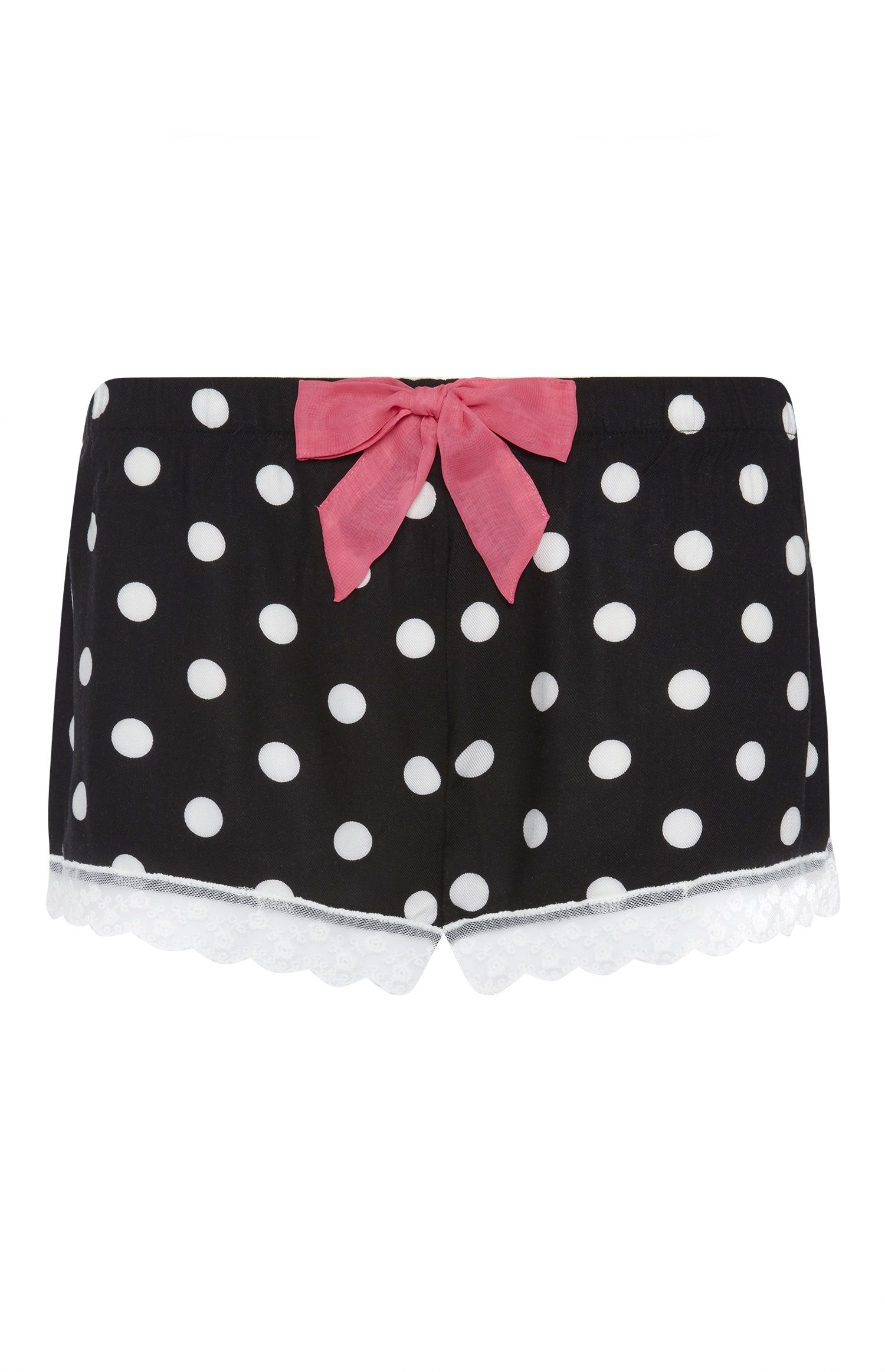 marques reconnues meilleure valeur Style magnifique Primark - Black Spotty Twill Pyjama Shorts | Nuit dame éte ...