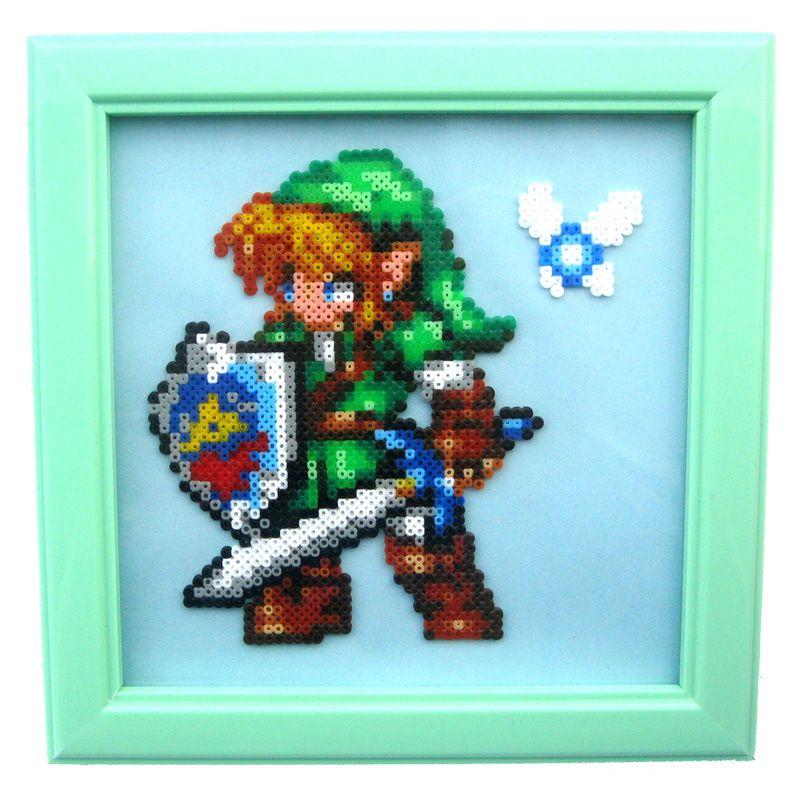 Link From Zelda Ocarina Of Time Majoras Mask Pixel Art