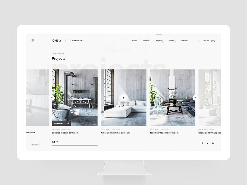 Ohio Concept Project Page Wordpress Theme Portfolio Creative Portfolio Wordpress Theme