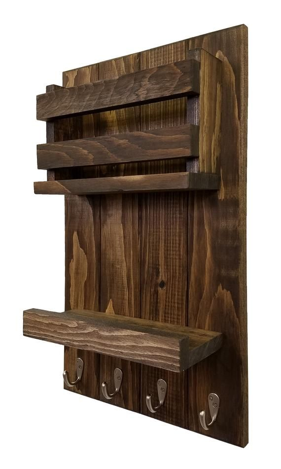 Harvest Rustic Large Vertical Organizer 20 Stain Colors  | E…