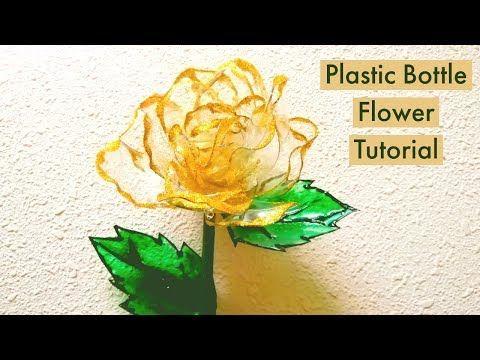 Best Ever Plastic Bottle Craft/Plastic Bottle Flower Tutorial #plasticbottlecraft #diyplasticbottle