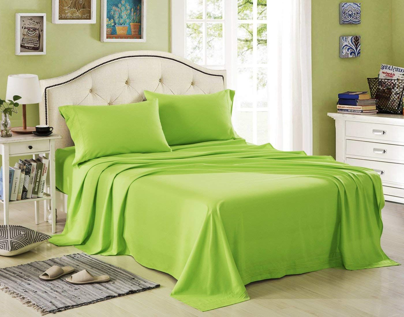 Green Bed Sheet Sets Discounted Sale Green bed sheets