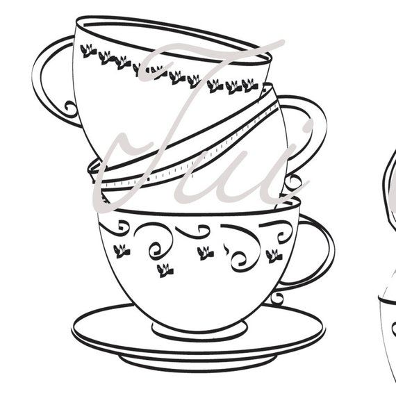 Miss Etoile Gold Teacup And Saucer Twinings Online Clipart (#2571901) -  PinClipart