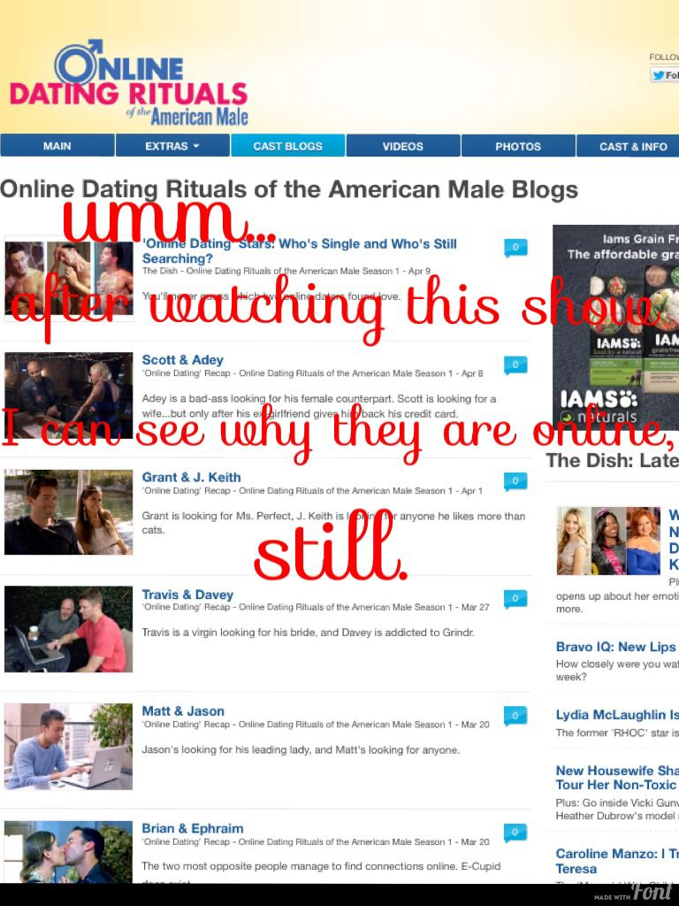 Online dating rituals of the american male cast grant