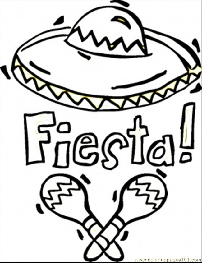 Fiesta Coloring Sheets