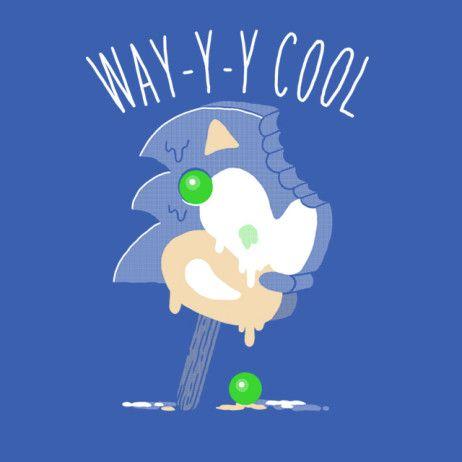 Sonic The Hedgehog Melting Ice Cream Bar T Shirt Video Game T Shirts Hedgehog Sonic