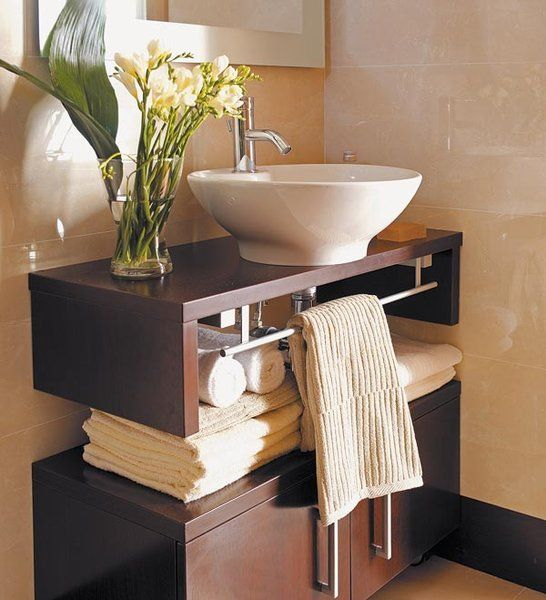 Ocho lavabos para baños pequeños | Lavabos para baño, Baño pequeño y ...