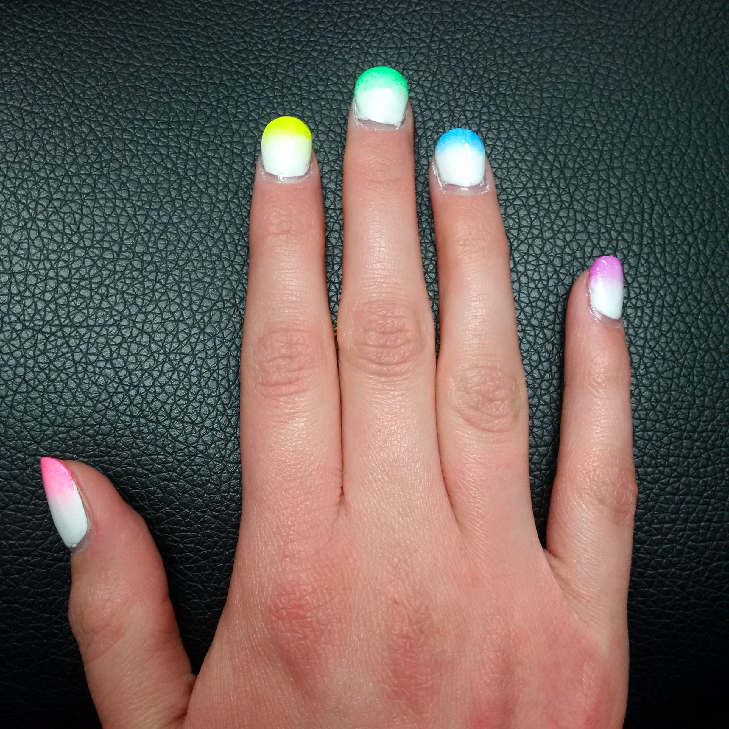Ombre neon rainbow nails!   Nails   Pinterest   Ombre