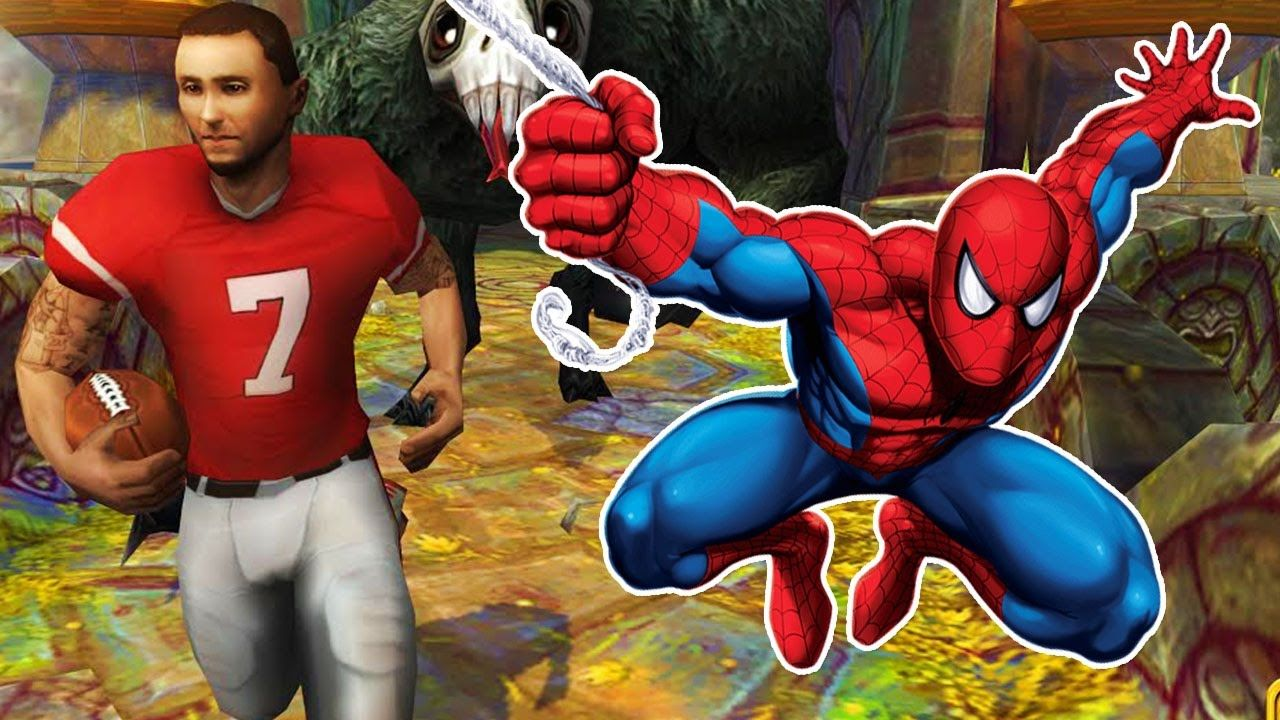 spider man unlimited vs temple run 2 fun ios android gameplay