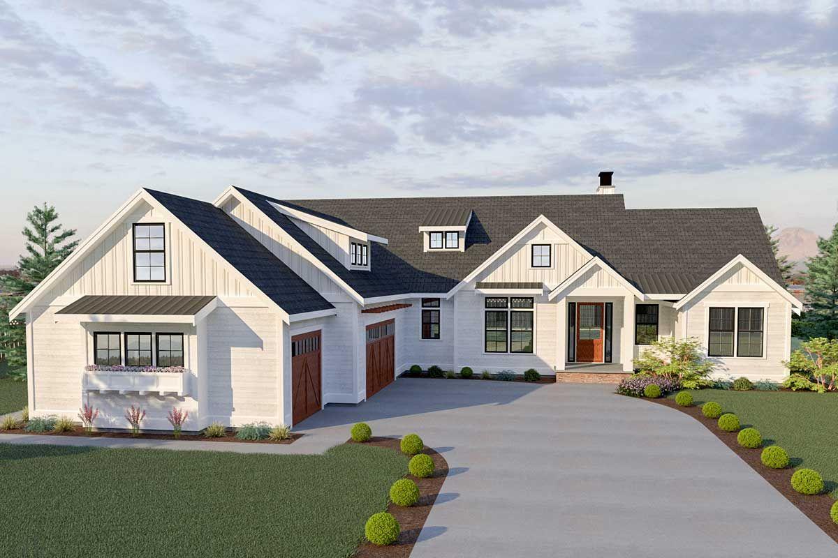 Plan 280021jwd 3 Bed Modern Farmhouse Plan With Bonus Room Craftsman House Plans Modern Farmhouse Plans Best House Plans