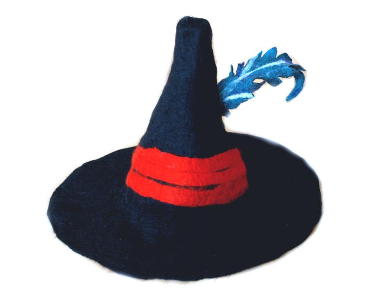 Haarschmuck & Kopfputz - Hut gefilzt Räuber Hotzenplotz für ...