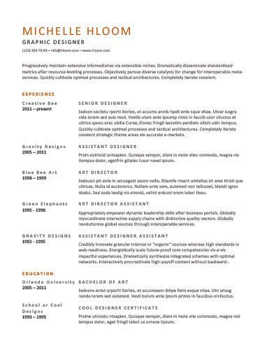 Chronological Resume by Hloom resume cheat sheets - chronological resume