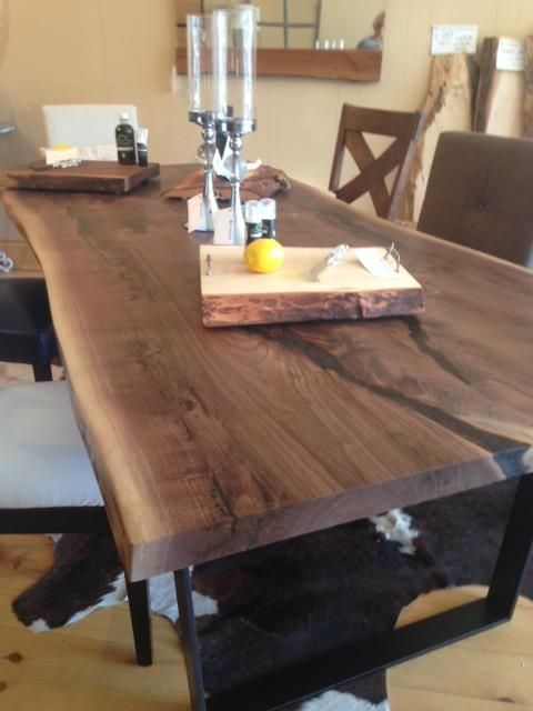 candcrafted black walnut table for sale design wood slab table table wood table. Black Bedroom Furniture Sets. Home Design Ideas