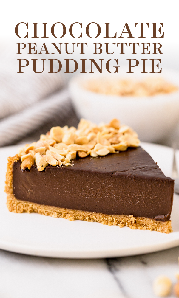 Chocolate Peanut Butter Pudding Pie Tastes Like A Giant Reese S Peanut Butter Cup But So Muc Erdnussbutter Und Schokolade Hausgemachte Pralinen Dessert Rezepte