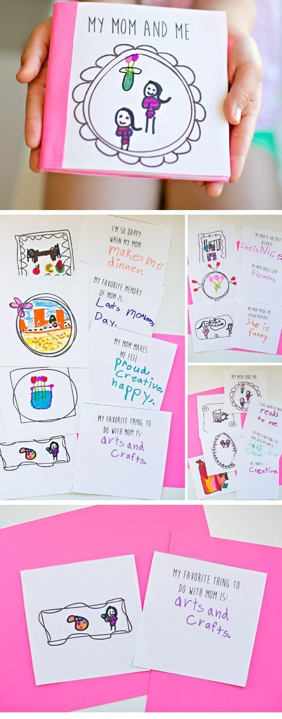 Good French Crafts For Kids To Make Part - 14: Free Printable Mothers Day Book | Easy Mothers Day Crafts For Kids To Make  | DIY Birthday Gifts For Mom From Kids