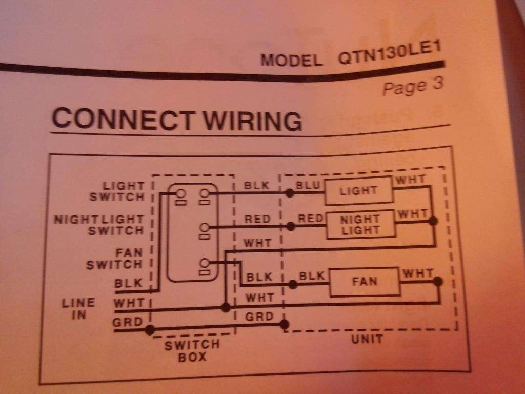 Bathroom Light Fan Switch Wiring Diagram