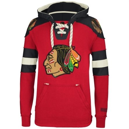 0e756acb0 Reebok Chicago Blackhawks Red Pullover Hoodie