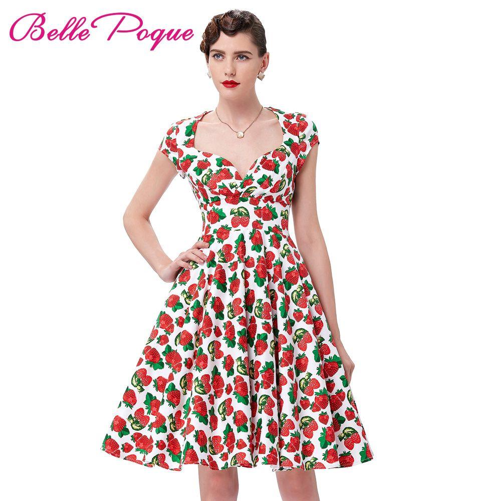 Summer dress vintage rockabilly dresses jurken s s vintage