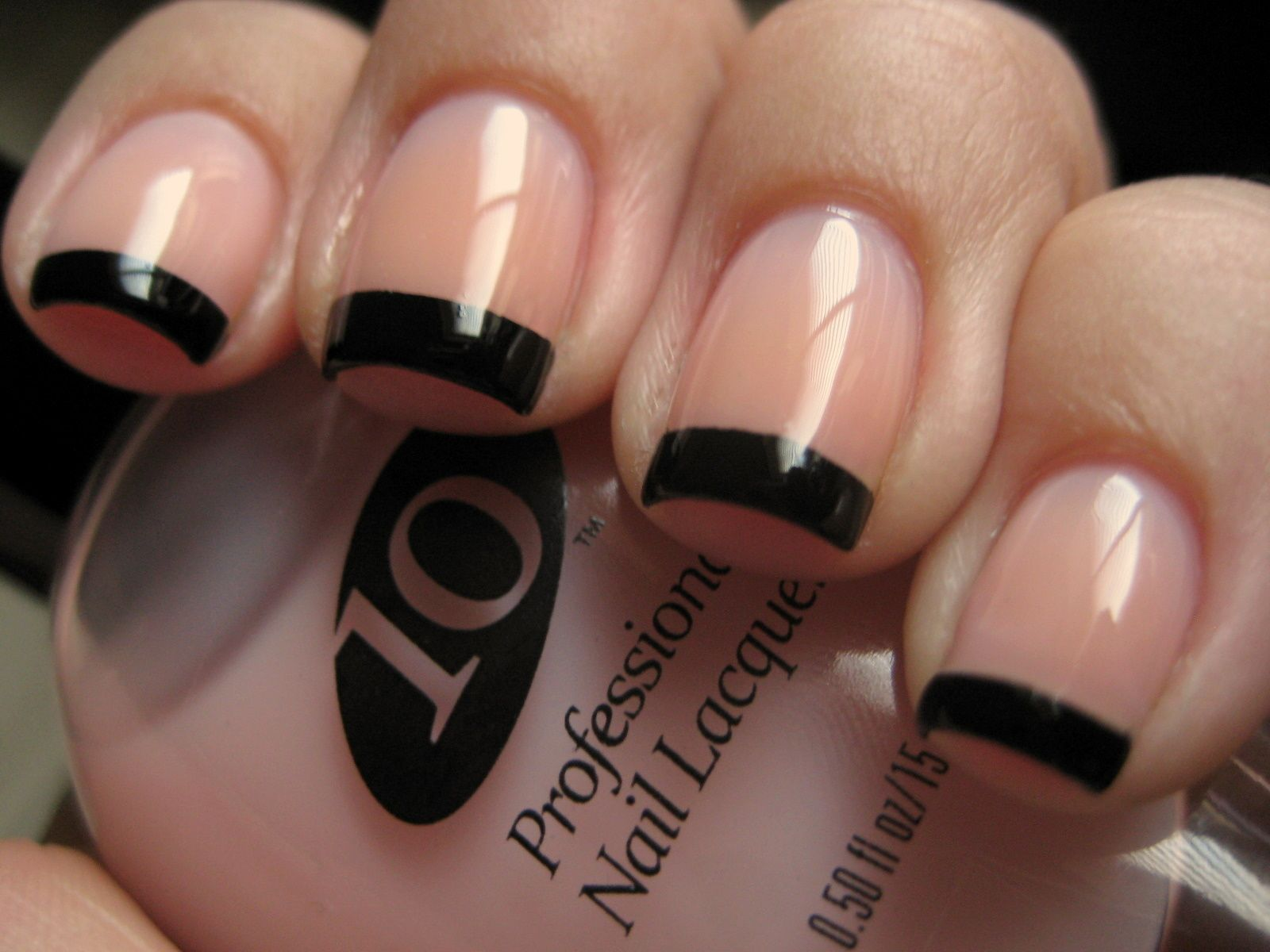 Black-tip french manicure