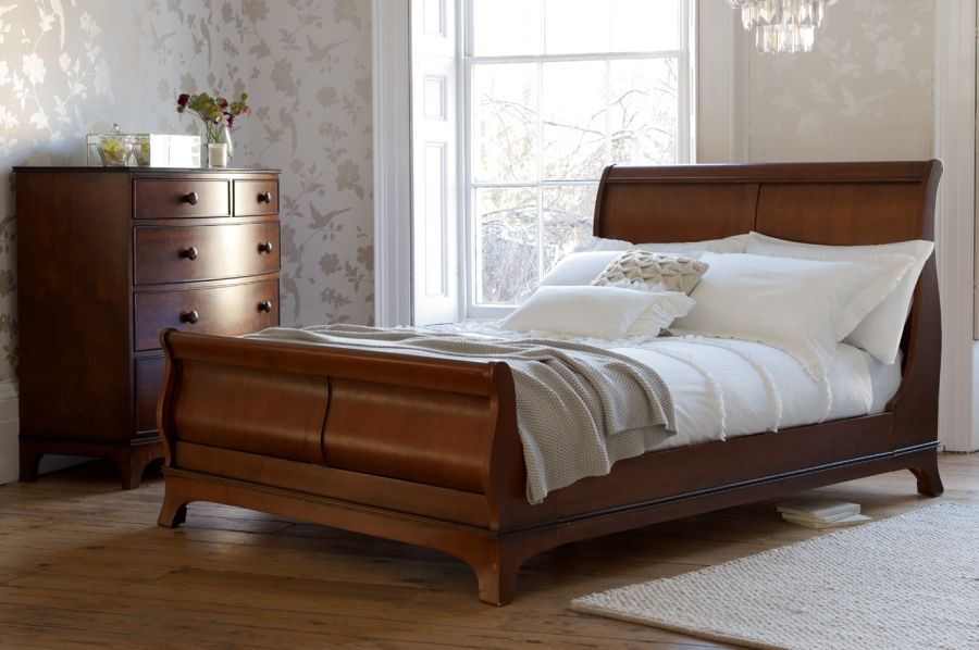 Groovy Laura Ashley Broughton Sleigh Bed In Dark Wood Fashion In Download Free Architecture Designs Scobabritishbridgeorg