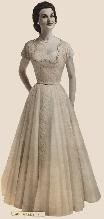 1950s Vintage Wedding Dresses & Shoes History | Gowns, Vintage ...