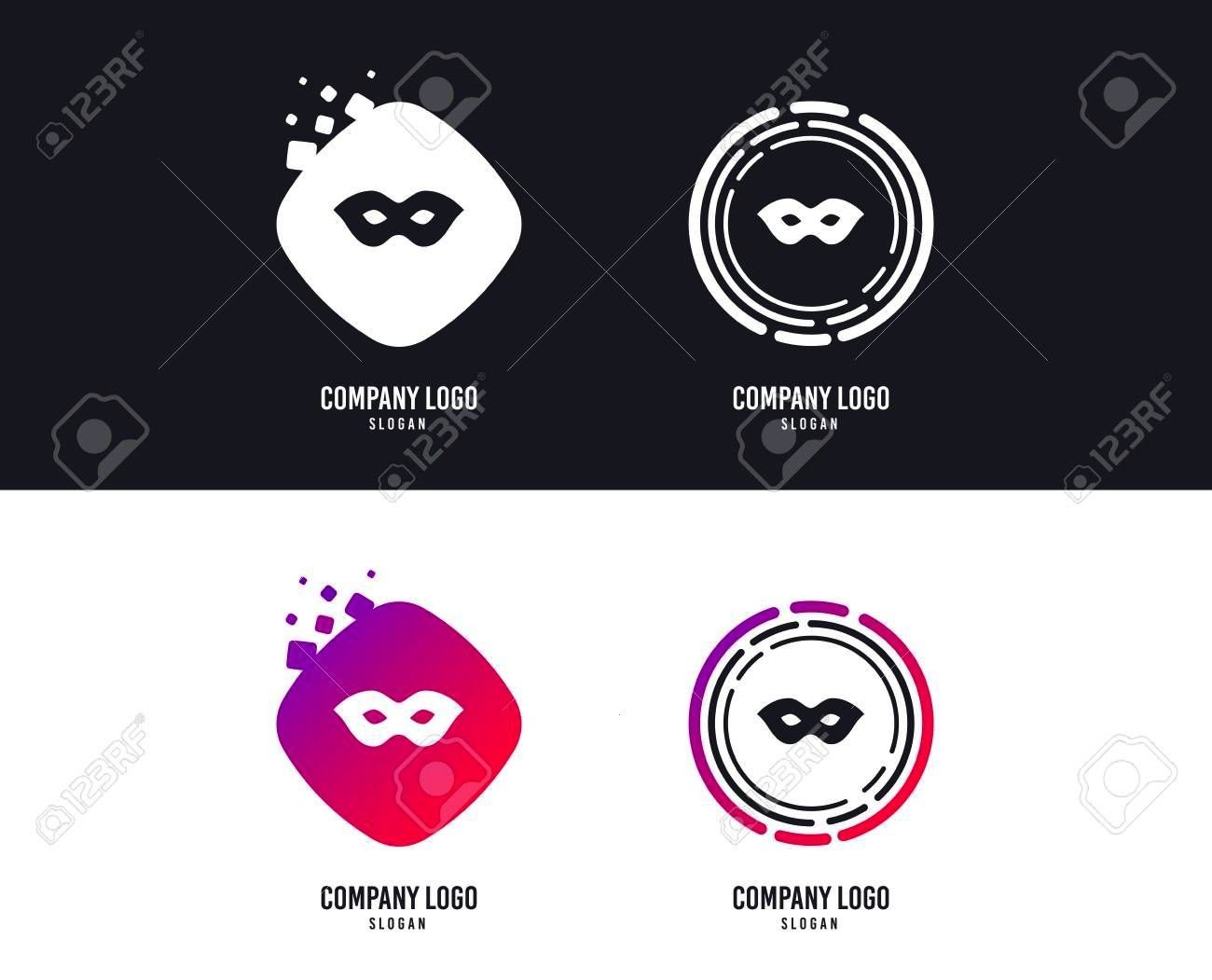 sign icon Anonymous spy access symbol Colorful buttons with icons Vector Mask sign icon Anonymous spy access symbol Colorful buttons with icons Vector  Logotype concept B...