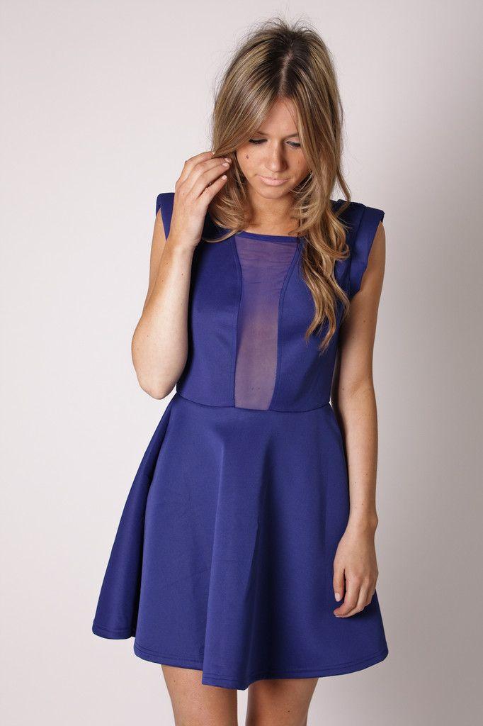 poppet cocktail dress- blue | Style | Pinterest