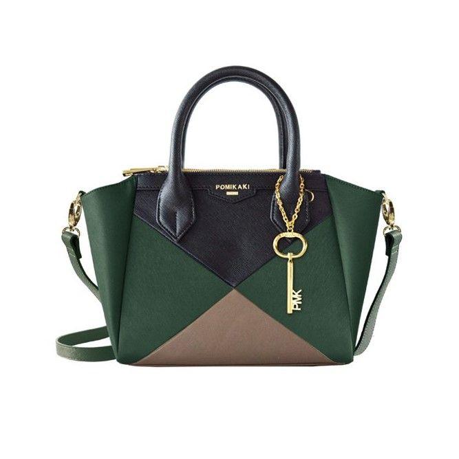 Nos gusta ofrecerte siempre lo último ...   POMIKAKI, modelo Natasha Green Black Grey, 130 €  COMPRAR: http://www.perfumeriasidonia.com/complementos-moda/bolsos/pomikaki/otono-invierno-2016-2017/bolso-pomikaki-natasha-green-black-grey/