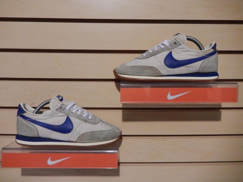 fdb4e81abc8 Vintage 1982 Nike Oceania Running Shoes Swoosh Soles size 7 Suede Nylon  Blue  Nike  RunningCrossTraining