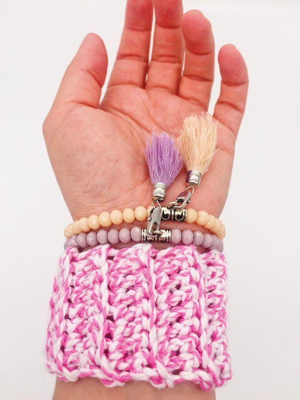 DIY Häkelanleitung – Armband aus Biobaumwolle | einfache Armbänder ...