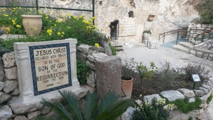 The garden tomb, outside the city walls of Jerusalem.