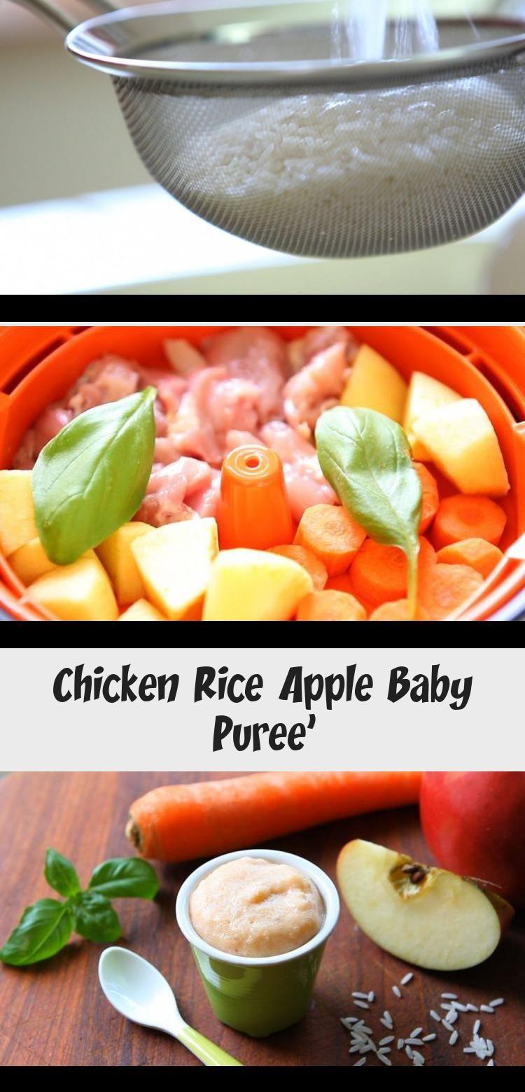 Chicken Rice Apple Baby Puree | Chicken rice, Baby puree ...
