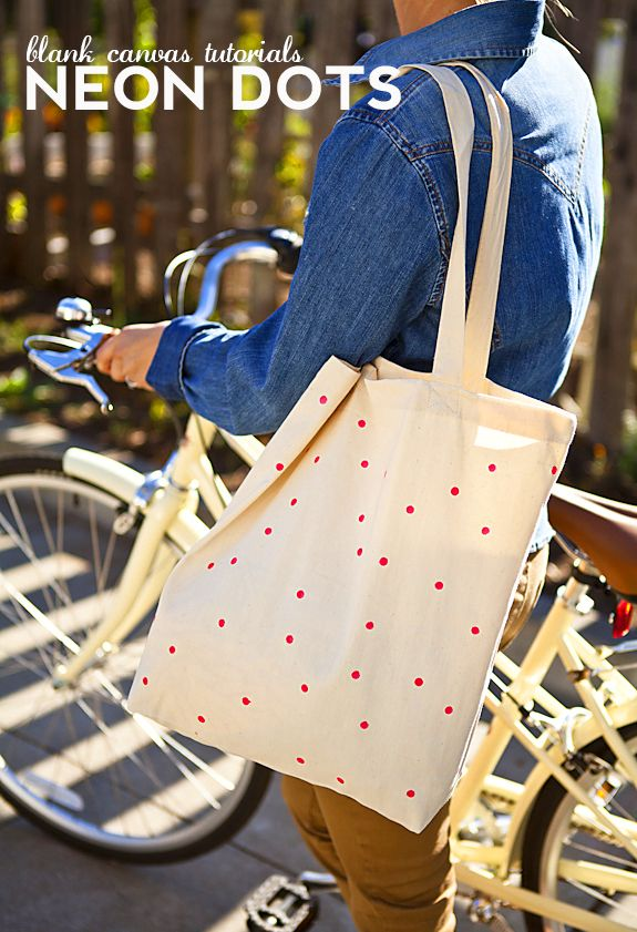 Cute DIY decorated tote bag.