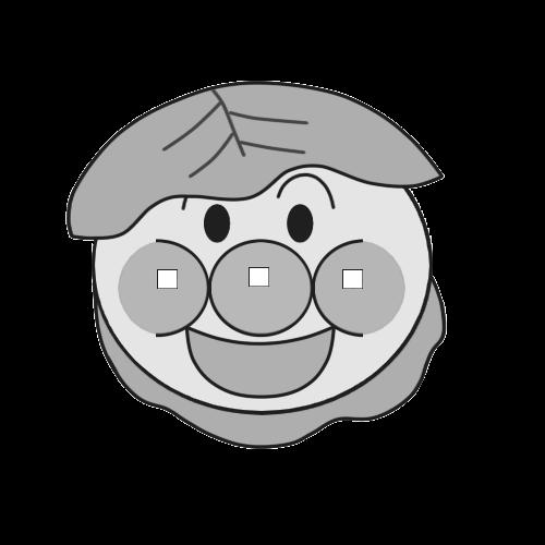 こどもの日用のアンパンマン風柏餅イラストの白黒素材 かくぬる工房 柏餅 イラスト 塗り絵 アンパンマン アンパンマン イラスト