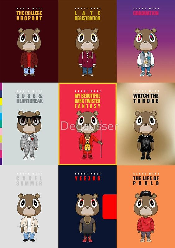 All Vertical By Degausser Kanye West Wallpaper Kanye West Album Cover Kanye West Bear
