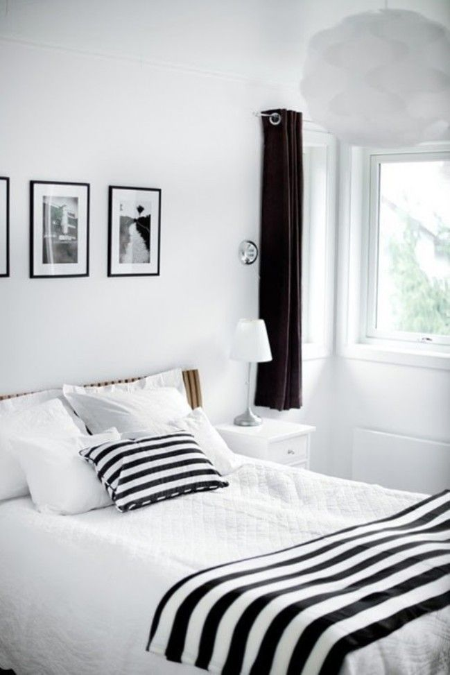 Black White And Stripes From The Blog Mocca Me Pinterest Black White Bedrooms White Bedroom Design Black And White Decor