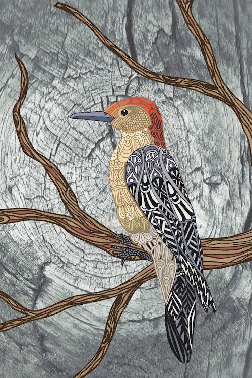 Woodpecker by Angelika Parker is printed with premium inks for brilliant color…
