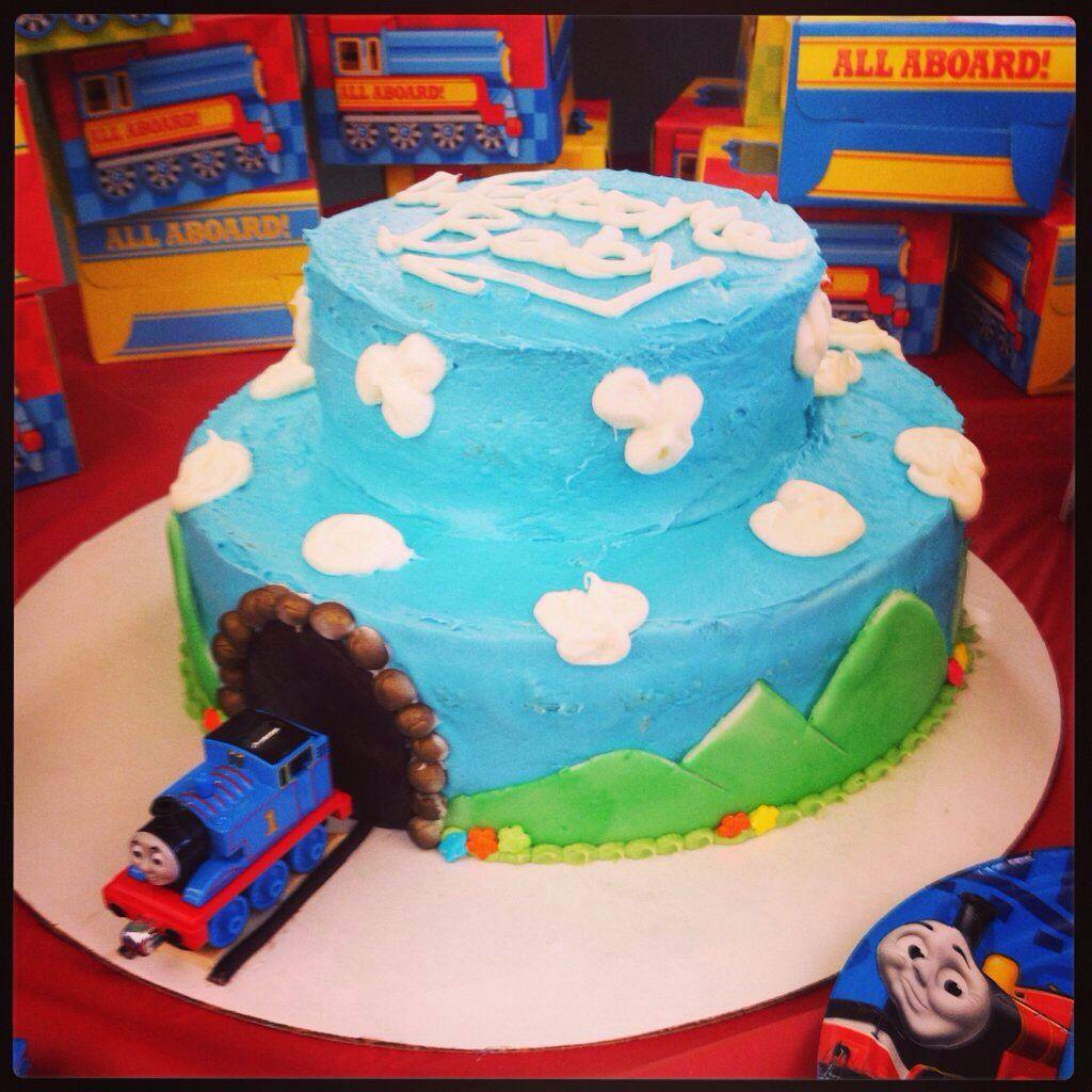 Train Baby Shower Cake Part - 33: Thomas The Train Baby Shower Cake.