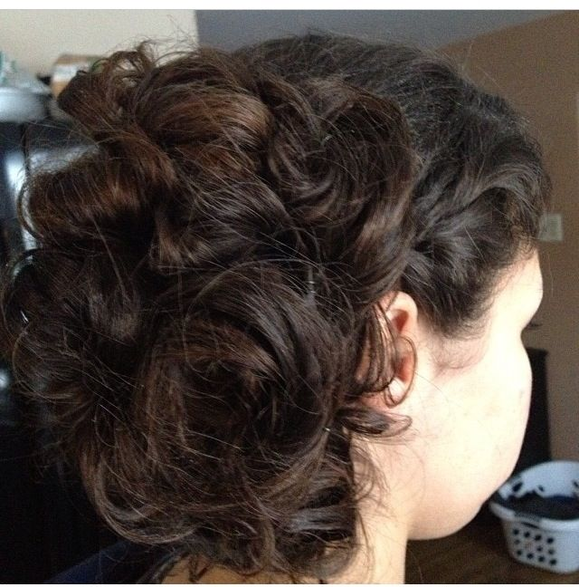 My hair from formal.